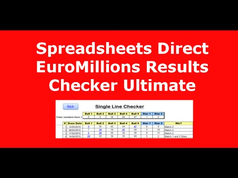 Spreadsheets Direct EuroMillions Results Checker Ultimate...