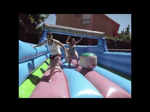 Girls and Boys fun on Bounce Castle