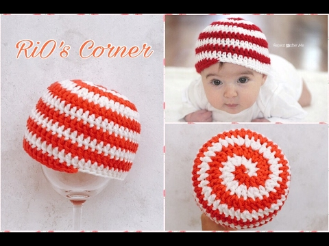 [Crochet] Spiral Hat   Hướng dẫn móc mũ kiểu xoắn ốc cho bé