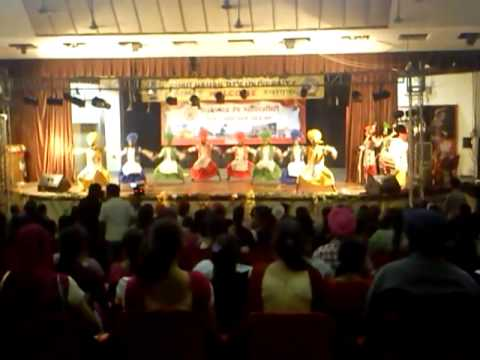 sikh national college bhangra 2013 final performence @ amritsar