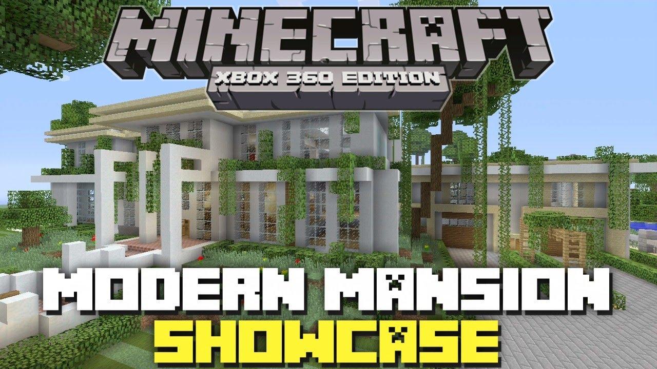 Minecraft xbox 360 edition modern mansion showcase youtube for Minecraft big modern house tour