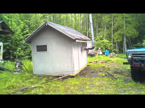 Yooper fun, sauna relocation 2 of 3