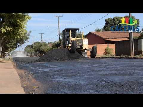 Prefeitura de Cáceres faz recuperação asfáltica de partes da Rua Joaquim Murtinho