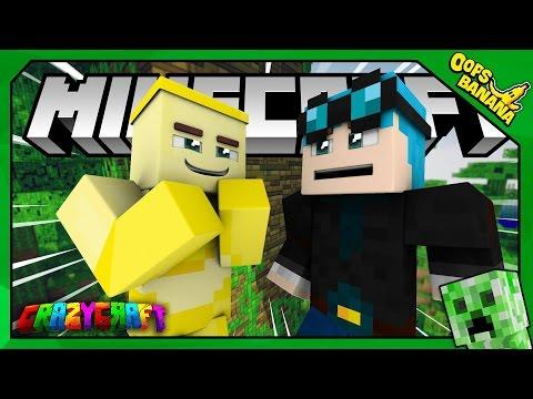 CHUỐI GẶP THẦN TƯỢNG DanTDM (Minecraft Crazy Craft 3.0 #1)