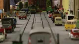 Straßenbahn-Modulanlage der Firma Weigel Modellbau bei den Busecker Spur 0 Tagen