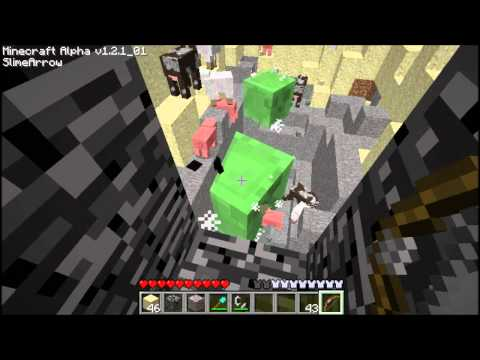 Minecraft - 303's arrow mod fun, TNT arrow, slime arrow and mob arrow!