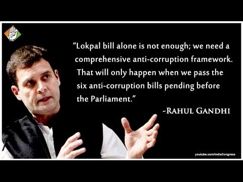 Rahul Gandhi presents six laws that will eliminate corruption