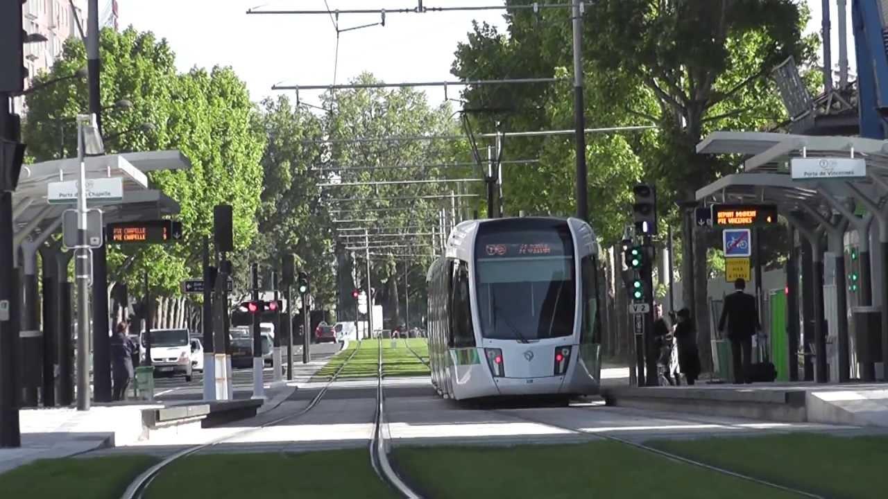 Tramway t3b de paris porte de pantin youtube for Porte de pantin salon