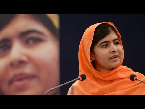 16 year old Malala Yousafzai awarded Sakharov prize for freedom of thought