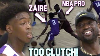 "Zaire Wade GOES CLUTCH VS NBA PLAYERS InFront of D-Wade In MIAMI PRO AM! ""Young Flash"""