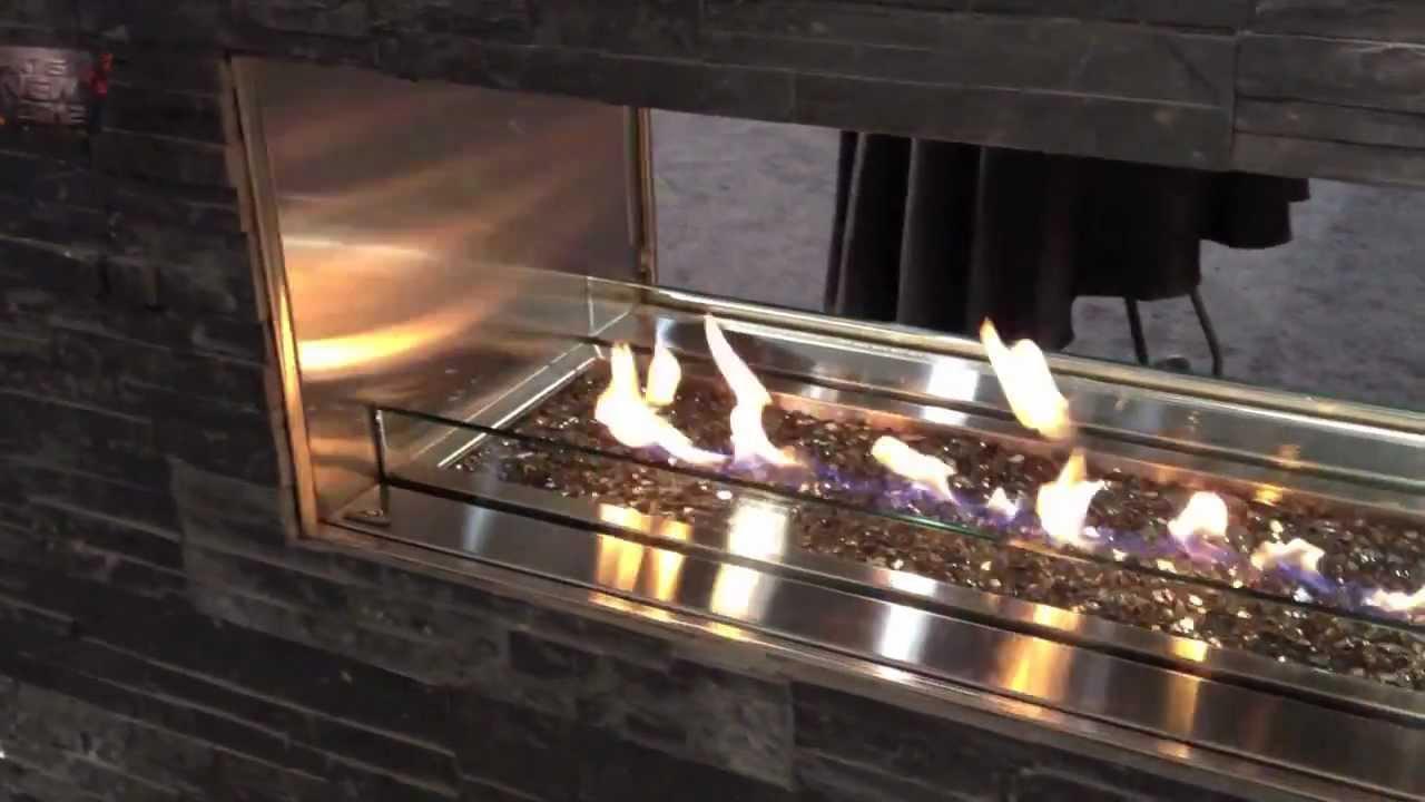 Outdoor Linear Gas Fireplace Patio Heater Gas Propane Natural Video Burn Yo
