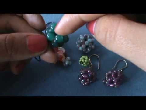 TutoLiz: Aretes hechos con Bolita (Beads)