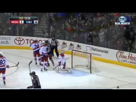 Cam Atkinson Goal : Washington Capitals v Columbus Blue Jackets : January 17 2014