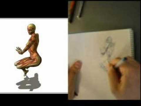 human figure 30 second drawing part01
