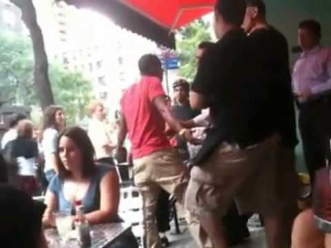 Fight at NYC restaurant Black vs white
