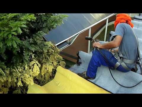 Impermeabilização de telhados e isolamento térmico de telhado.Impresol - Obra Mackenzie