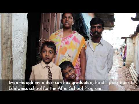 AlphaBet Club; Thank You video from family in Bangalore slum. October 2013; 1 min