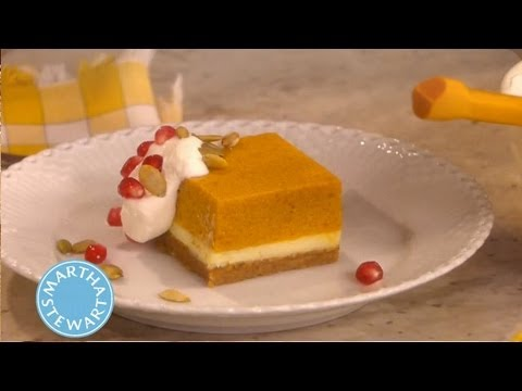 Pumpkin Mousse Cheesecake | Thanksgiving Recipes | Martha Stewart ...