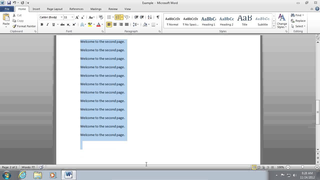 how to i delete a page in word