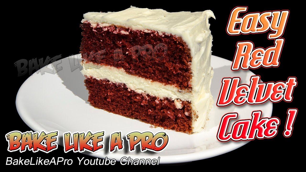 Easy Red Velvet Cake Recipe Youtube
