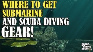 GTA 5 How To Get Diving Gear & Submarine (Location/Guide