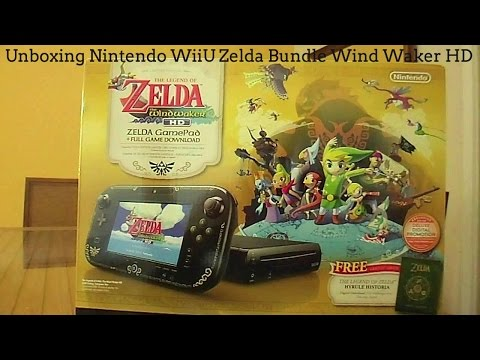Unboxing Nintendo Wii U The Legend of Zelda: Wind Waker Bundle * Pt Br