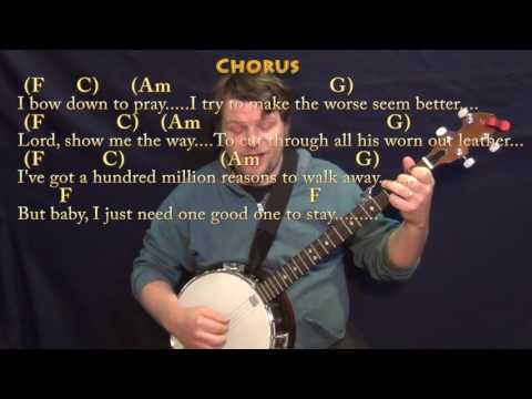 Million Reasons (Lady Gaga) Banjo Cover Lesson in C with Chords/Lyrics