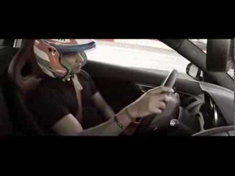 Narain Karthikeyan driving the Jaguar F-Type R Coupé and the all new Range Rover Sport