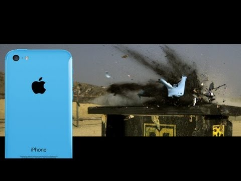 iPhone 5C vs 50 cal - Slow Motion Shootout: Hero3+, Epic, iPhone 5S, RatedRR