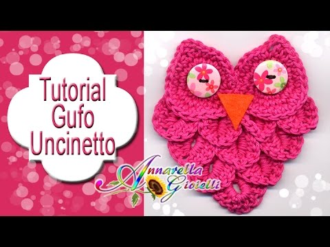 Tutorial gufo all'uncinetto con punto coccodrillo | How to crochet a owl