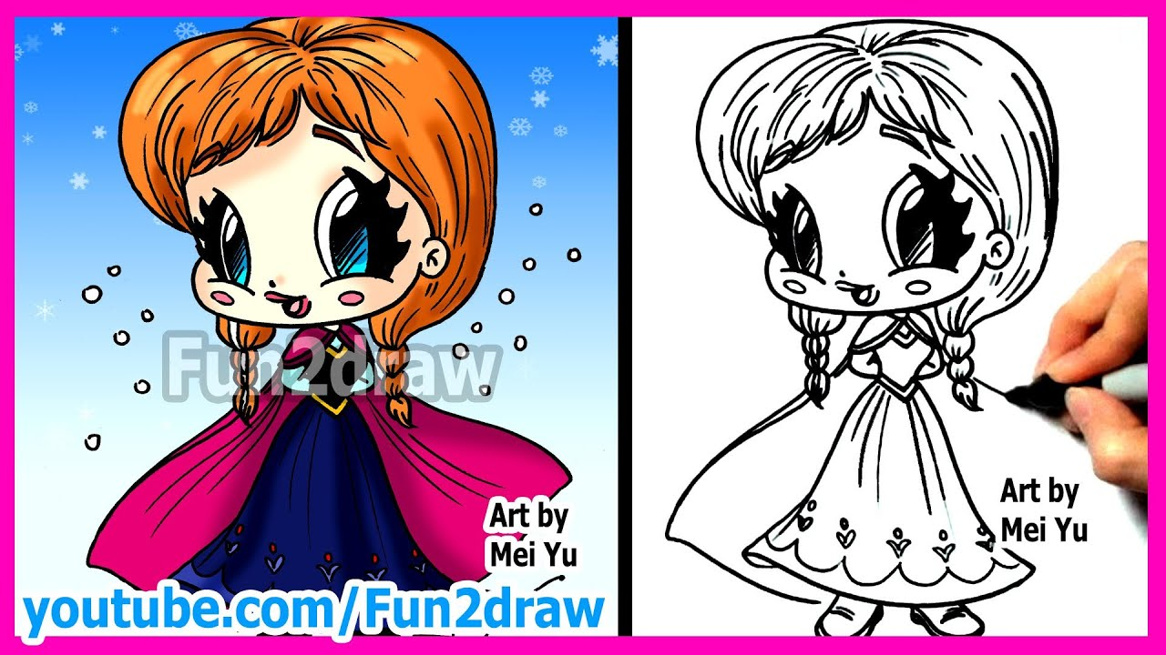 How to Draw Disney Princesses & Characters - Inspired by Frozen Anna ...