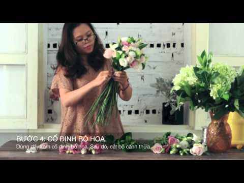 SERIES LỚP HỌC CẮM HOA CƠ BẢN | Bài 1: Bó hoa cô dâu đơn giản