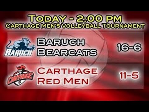 Carthage Men's Volleyball vs. Baruch 2014_03_15