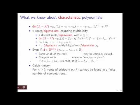 12.3.2 Eigenvalues of n x n matrices