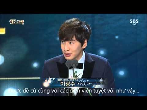 [Vietsub] Lee Kwang Soo tại SBS Drama Award 2014