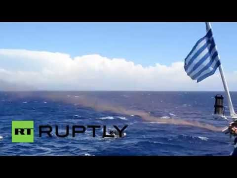 Greece: Boat protest condemns chemical weapons in the Med