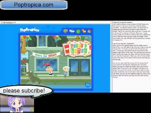 Poptropica Cheats Cryptids Island Part 1