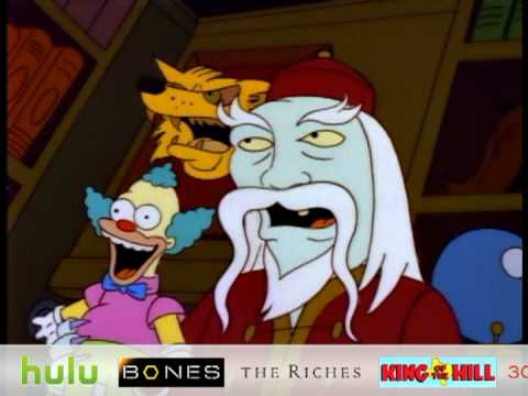 The Simpsons - Frogurt, Homer goes to an evil shop to find Bart a gift.