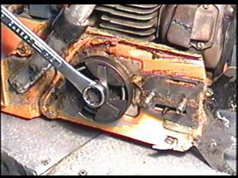 HUSQVARNA 288XP CHAINSAW HOW TO: CLUTCH &amp; DRIVE SPROCKET REMOVAL &amp; INSTALLATION