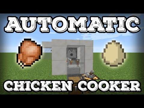 Automatic Lossless Chicken Cooker - Egg Farm - Compact(Minecraft Tutorial 1.12+)