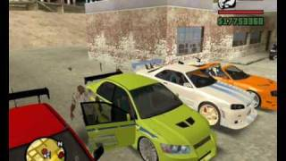 Gta San Andreas Mit The Fast And The Furious Autos
