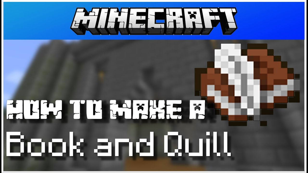 Minecraft - How to make a Book and Quill - YouTube