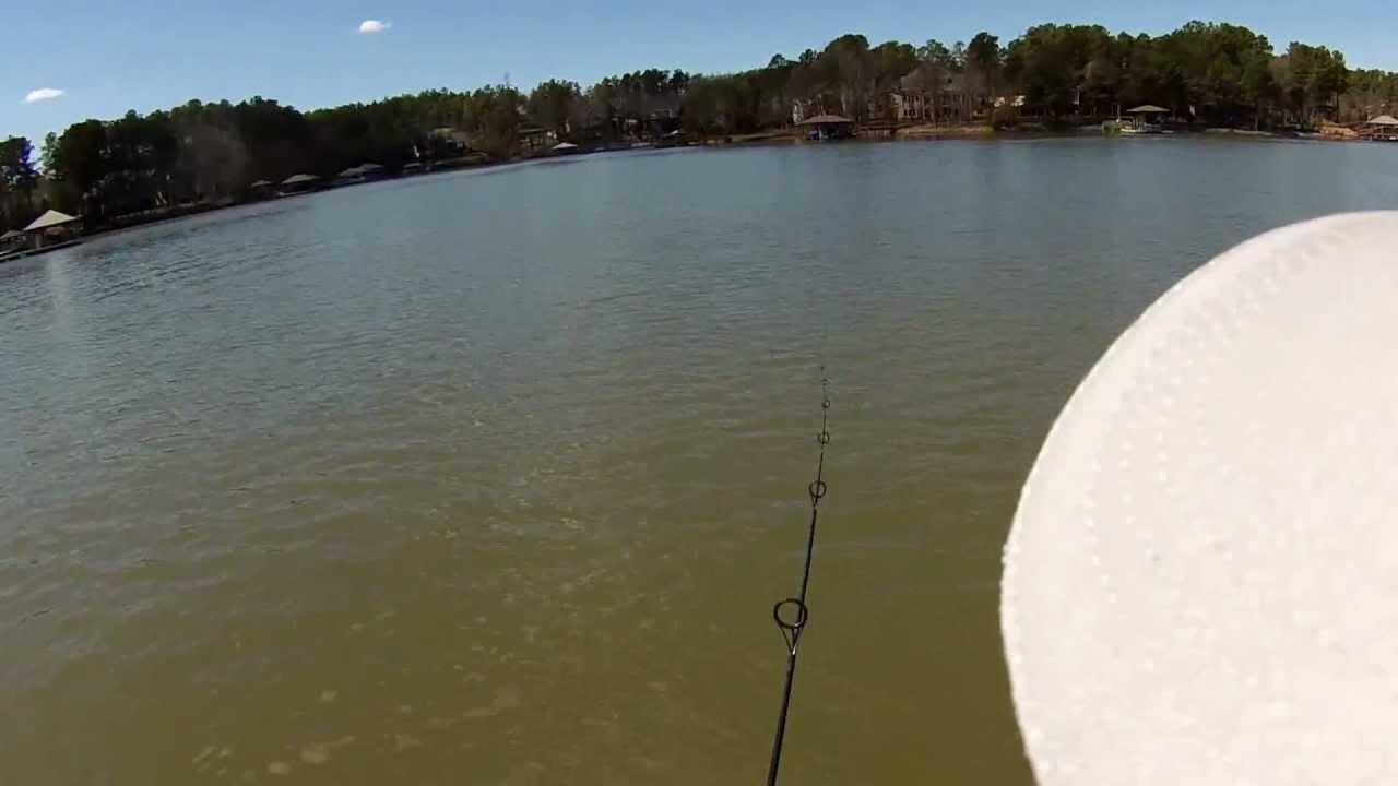 03 12 13 fishing lake norman working the rocks video for Take me fishing lake locator