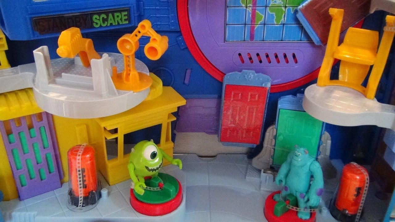 Scare Floor Imaginext Monsters University Disney Pixar Fisher Price Playset Toy Review Youtube