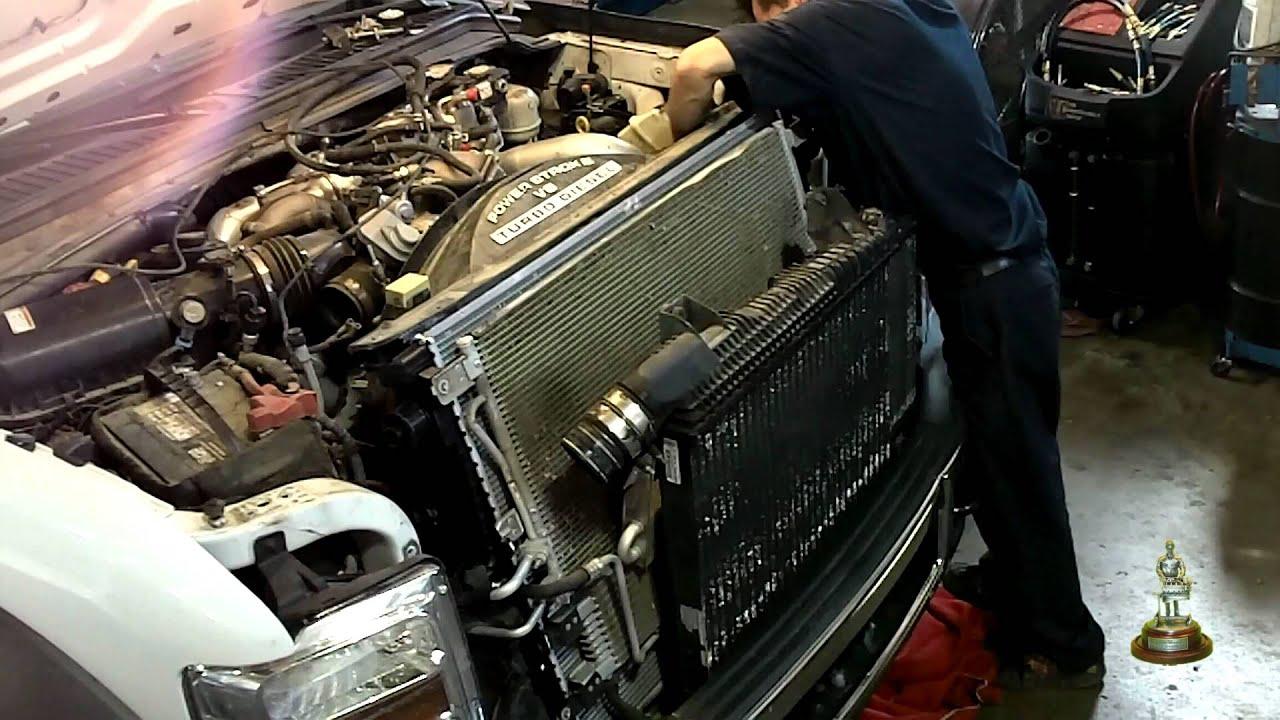 6 4 Liter Ford Powerstroke Radiator Installation
