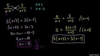 Reševanje racionalnih enačb 1