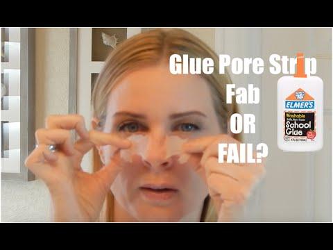 ELMER'S GLUE PORE STRIP Blackhead Removal - As Great As Biore? Does it Work?