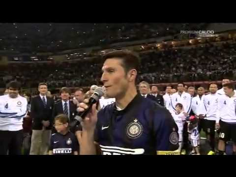 "Javier Zanetti's retirement speech, ""THANK YOU INTER AND EVERYONE"""