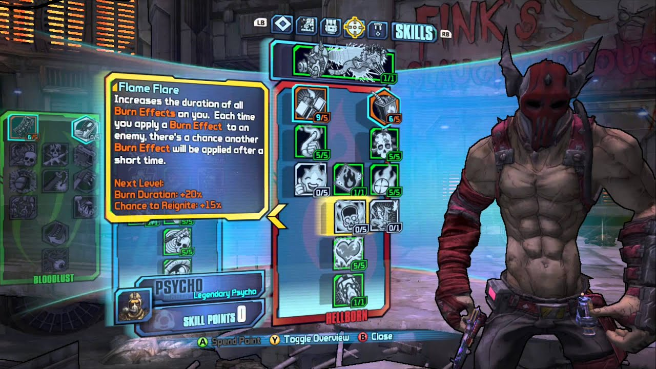 How To Build Fire Pshyco Borderlands