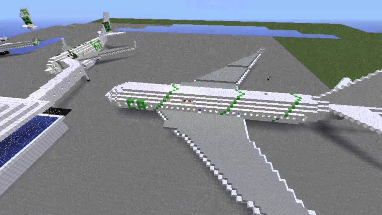 Timelapse D Un Avion Sur Minecraft Boeing 777 200